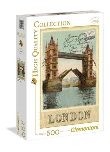 Clementoni London Poscard (500 parça) Renkli